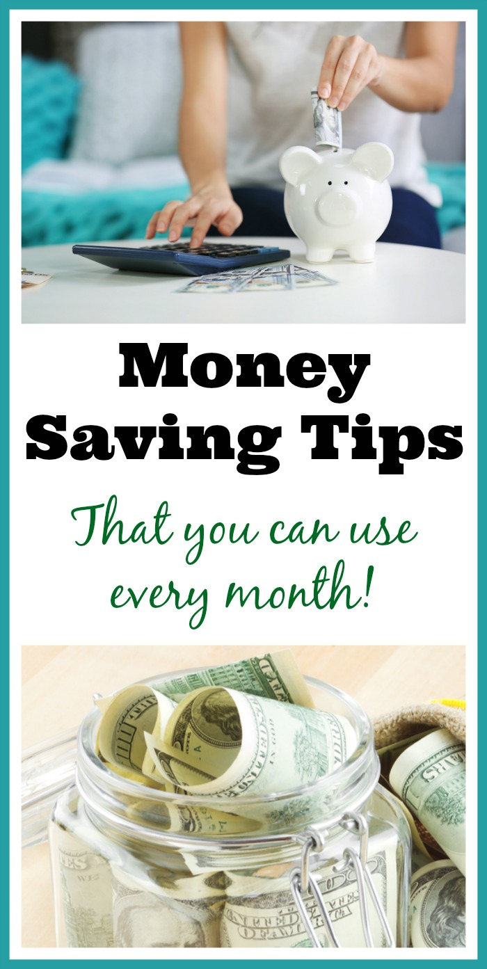 Money Saving Tips that you can use every month - There are plenty of ways to to save money each month that are practical and that anyone can do if they set their mind to it. I thought I'd share some money saving tips that my family uses all the time to live within our means. | Living on a budget| Frugal living