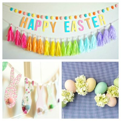 20 Festive DIY Easter Garlands and Banners