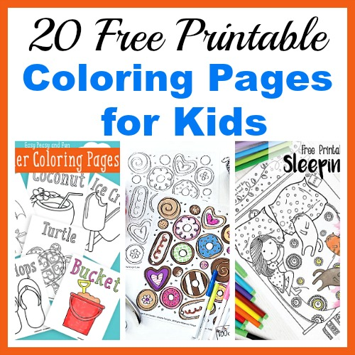 20 Free Printable Coloring Pages For Kids Coloring Pages For All