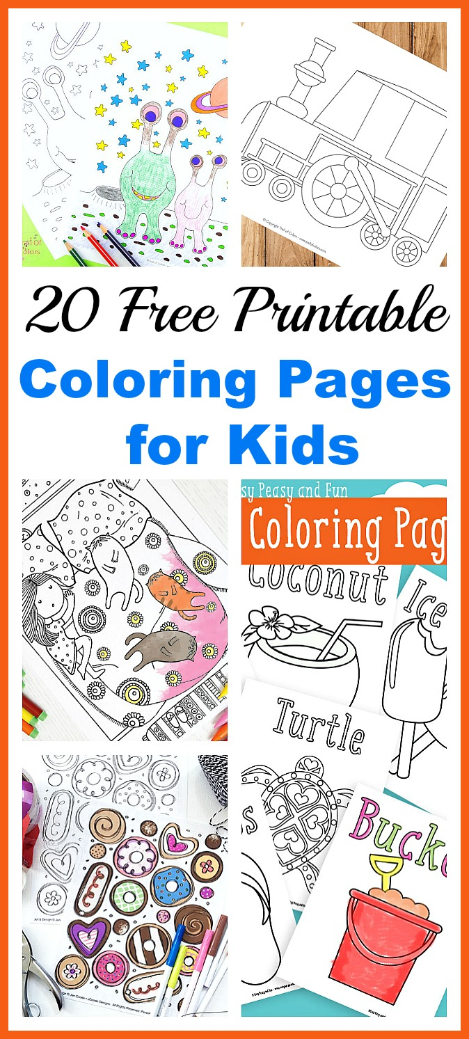 20 Free Printable Coloring Pages for Kids