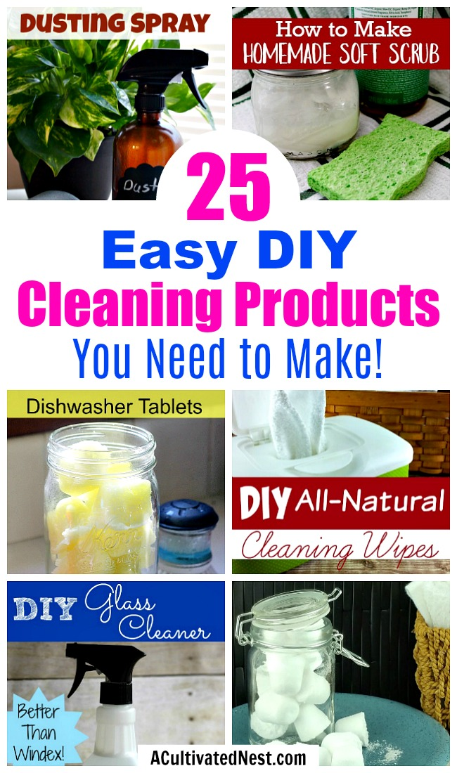 25 Homemade Cleaners