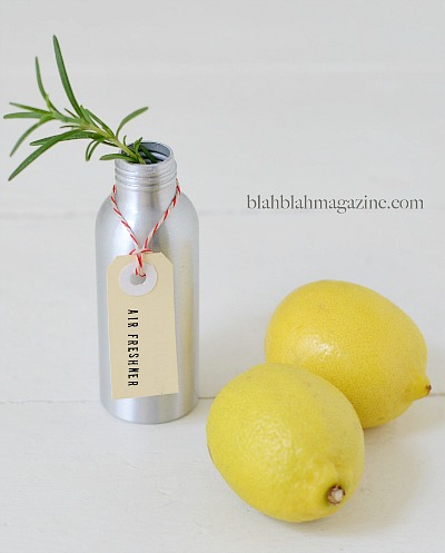lemon & rosemary air spray - These simple DIY Air fresheners are inexpensive to make and will leave your home smelling great in no time!