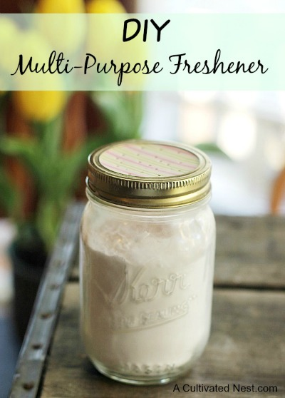DIY multi-purpose freshener - These simple DIY Air fresheners are inexpensive to make and will leave your home smelling great in no time!