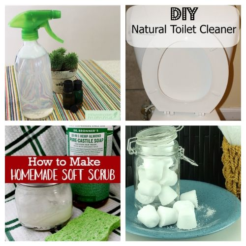 25 Homemade Cleaning Products for Spring Cleaning on a Budget- Save money and have a chemical-free spring cleaning this year by making some homemade cleaners! This list includes DIY cleaners for virtually everything! | #springCleaning #homemadeCleaner #diyCleaner #cleaningTips #ACultivatedNest