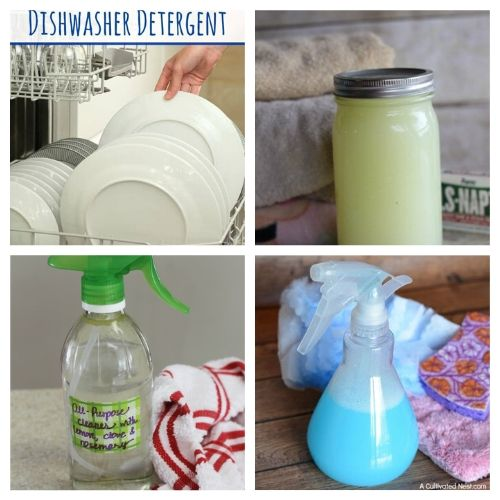 25 Eco-friendly DIY Cleaners That are Perfect for Spring Cleaning- Save money and have a chemical-free spring cleaning this year by making some homemade cleaners! This list includes DIY cleaners for virtually everything! | #springCleaning #homemadeCleaner #diyCleaner #cleaningTips #ACultivatedNest
