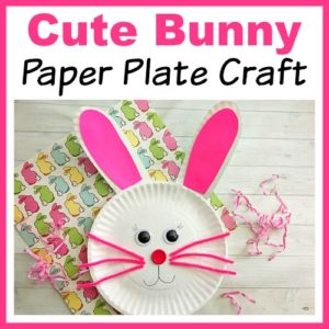 Cute Bunny Paper Plate Craft for Kids