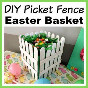 DIY Picket Fence Easter Basket