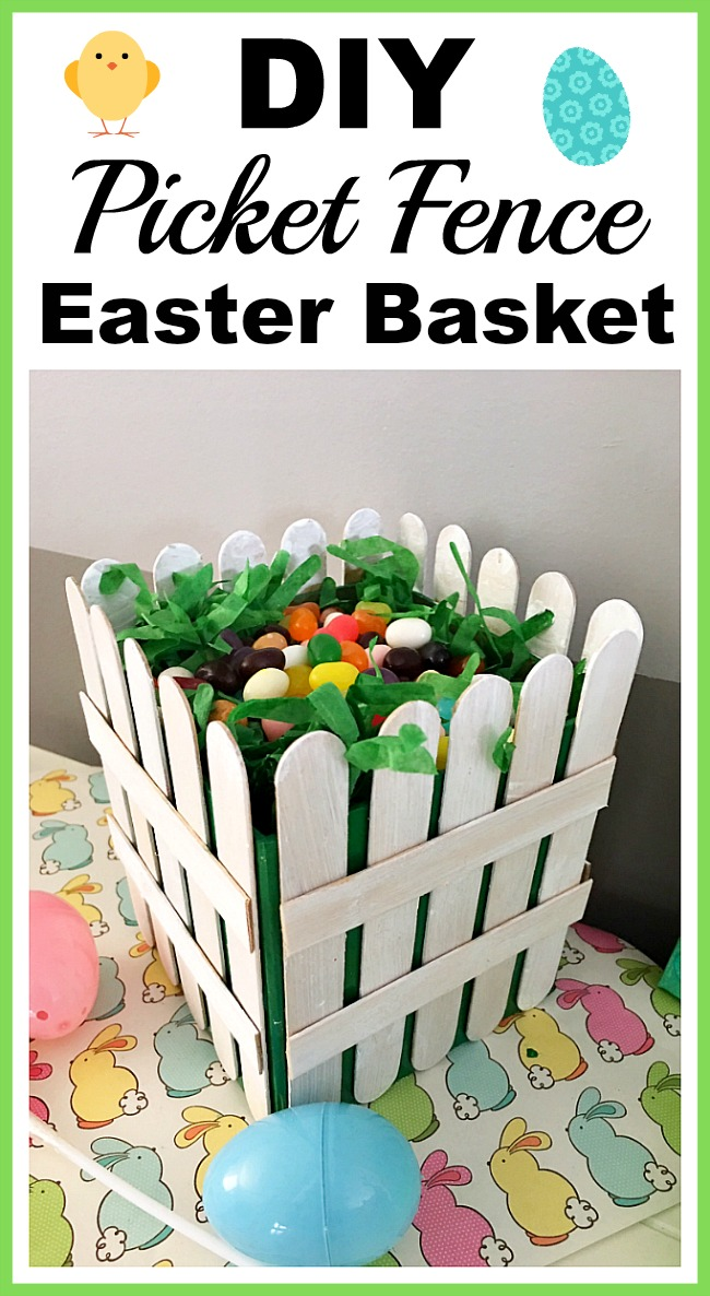 DIY Picket Fence Easter Basket
