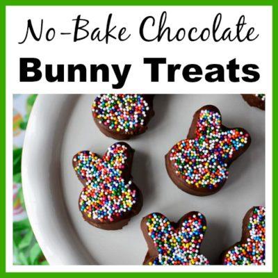Easy No-Bake Chocolate Bunny Treats