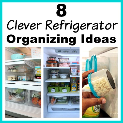8 Clever Refrigerator Organizing Ideas- Tired of constantly digging through your fridge trying to find what you want? You should try these 8 clever refrigerator organizing hacks! | DIY home organization, organize your home, kitchen organization, how to organize your fridge, #organizing #organization #organize #homeOrganization #kitchen #refrigerator #organizingTips #ACultivatedNest