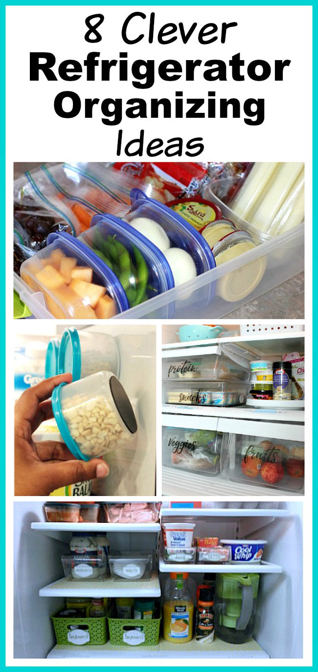 8 Clever Refrigerator Organizing Ideas- You don't need a bigger fridge, you just need to reorganize the one you have! Check out these clever refrigerator organizing ideas and gain fridge space! | DIY home organization, organize your home, organizing tips, kitchen organization, how to organize your fridge, #organization #organizing #organize #homeOrganization #kitchen #refrigerator #organizingTips #ACultivatedNest