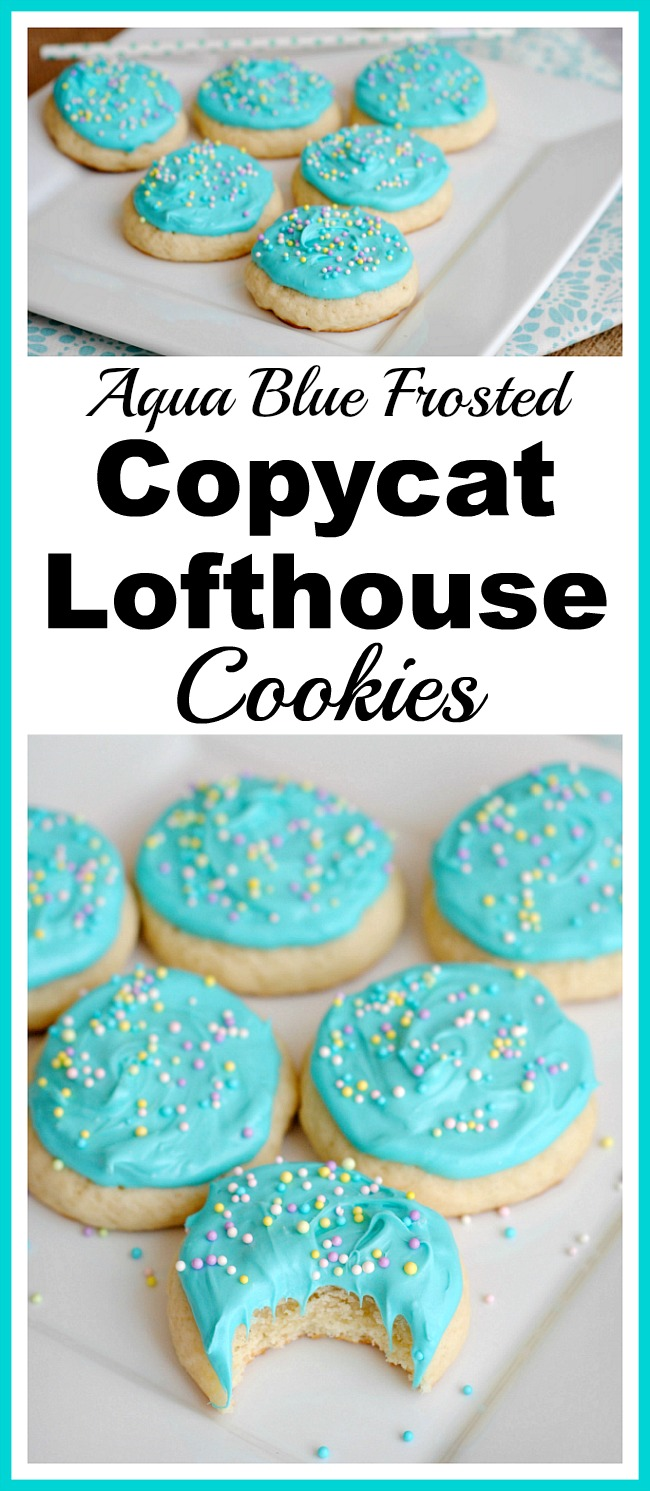 Aqua Blue Frosted Copycat Lofthouse Sugar Cookies