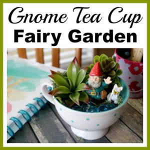 Gnome Tea Cup Fairy Garden