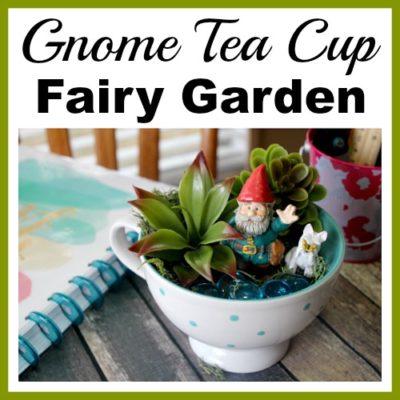 Gnome Tea Cup Fairy Garden