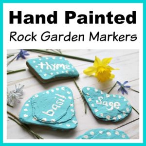 DIY Hand Painted Rock Garden Markers