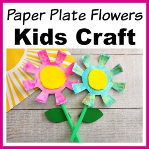 Paper Plate Flowers Kids Craft
