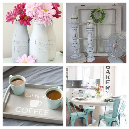 20 DIY Chalk Paint Projects- Chalk paint makes it easy to distress furniture and update your decor. Here are 20 original ways to decorate with chalk paint! | chalk paint furniture makeovers, bright decor, summer decor, frugal DIY project, chalk paint DIY project, #DIY #diyProject #chalkyPaint #decor #ACultivatedNest