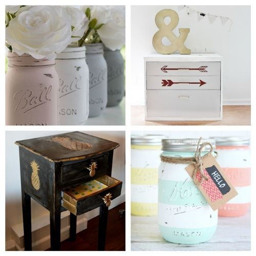 20 Chalk Paint DIY Decor Projects- Chalk paint makes it easy to distress furniture and update your decor. Here are 20 original ways to decorate with chalk paint! | chalk paint furniture makeovers, bright decor, summer decor, frugal DIY project, chalk paint DIY project, #DIY #diyProject #chalkyPaint #decor #ACultivatedNest