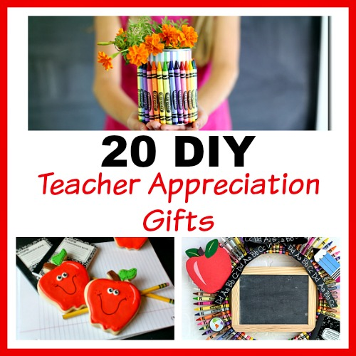 20 DIY Teacher Appreciation Gifts They Will Love- Show your kids' teachers how much they're appreciated with these DIY teacher appreciation gifts. Great for Teacher Appreciation Day or the end of the semester or school year! | homemade gift, handmade gift, DIY project, craft, fun teacher gift, Teacher's Day, presents for teachers