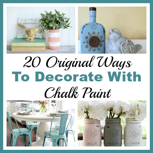 20 Original Ways to Decorate with Chalk Paint- Chalk paint makes it easy to distress furniture and update your decor. Here are 20 original ways to decorate with chalk paint! | DIY project, craft, decorating ideas, decoration inspiration, Mason jars, painting, chalky paint, DIY gift ideas, handmade gift, spring, summer decor, update your decor, bright decor, frugal DIY