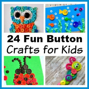 24 Fun Button Crafts for Kids