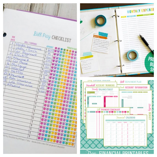 25 Free Budget Worksheet Printables- An easy way to get your budget binder set up is with free printable budgeting forms! Here are some great ones to get you started keeping track of your finances! | Living on a budget, frugal living, budget binder, financial printables #waysToSaveMoney #moneySavingTips #budgeting #freePrintables #ACultivatedNest