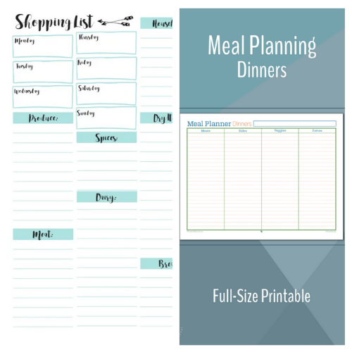 Free Menu Planner Printables- An easy way to get your budget binder set up is with free printable budgeting forms! Here are some great ones to get you started keeping track of your finances! | Living on a budget, frugal living, budget binder, financial printables #waysToSaveMoney #moneySavingTips #budgeting #freePrintables #ACultivatedNest