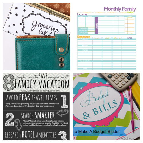 25 Free Printables for Budgeting- An easy way to get your budget binder set up is with free printable budgeting forms! Here are some great ones to get you started keeping track of your finances! | Living on a budget, frugal living, budget binder, financial printables #waysToSaveMoney #moneySavingTips #budgeting #freePrintables #ACultivatedNest