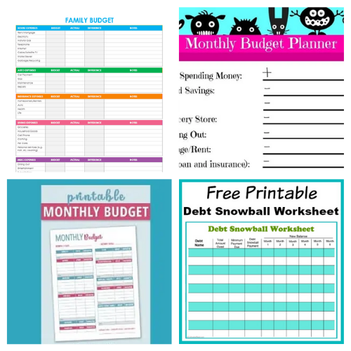 25 Free Printables to Help You Make a Budget- An easy way to get your budget binder set up is with free printable budgeting forms! Here are some great ones to get you started keeping track of your finances! | Living on a budget, frugal living, budget binder, financial printables #waysToSaveMoney #moneySavingTips #budgeting #freePrintables #ACultivatedNest