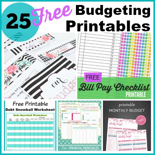 25 Free Budgeting Printables Take Control Of Your Finances