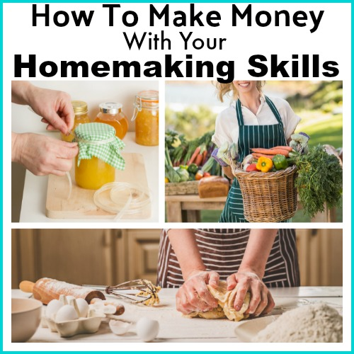 Make Money With Your Homemaking Skills - By getting creative you can earn money with the same homemaking skills you use every day to care for your home and family! Frugal living   Ways to make money   Living on a Budget   Homemaker Tips