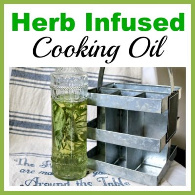 Homemade Herb Infused Cooking Oil