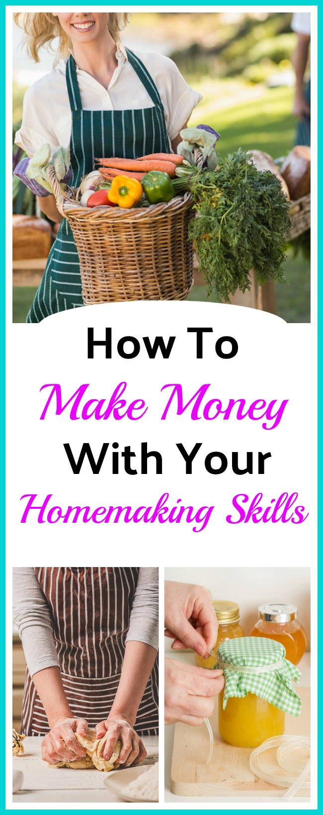 How To Make Money With Your Homemaking Skills - By getting creative you can earn money with the same homemaking skills you use every day to care for your home and family! Frugal living   Ways to make money   Living on a Budget   Homemaker Tips