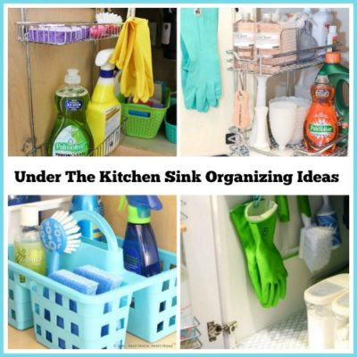 Under the kitchen sink organizing ideas
