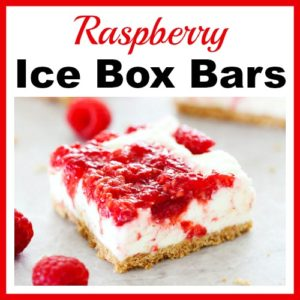 Raspberry Ice Box Bars