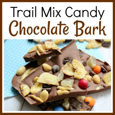 Trail Mix Candy Chocolate Bark