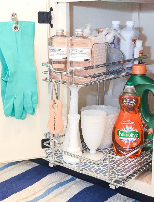 how to organize under the kitchen sink fabulous ideas for tackling that hard to organize - Kitchen Sink Drink