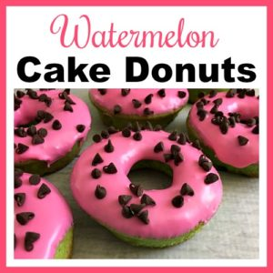Watermelon Cake Donuts