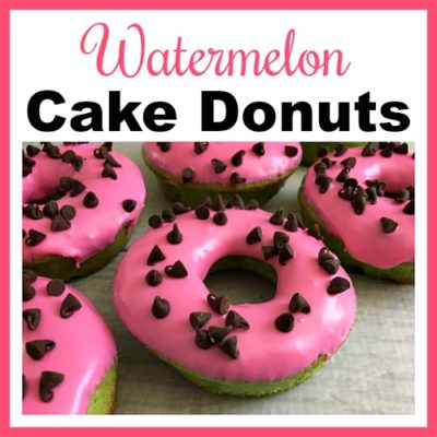 Watermelon Cake Donuts