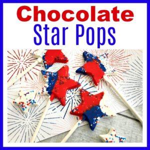 Chocolate Star Pops