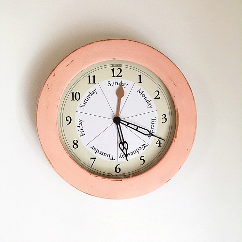 DIY Chalky Paint Clock Makeover