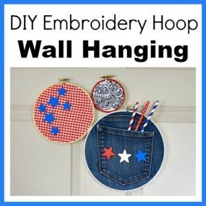DIY Embroidery Hoop Wall Hanging
