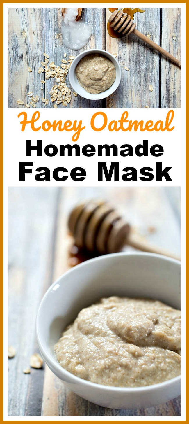 Honey Oatmeal Homemade Face Mask- Make this honey oatmeal homemade face mask for your next DIY spa day and it'll leave your skin feeling moisturized and looking beautiful! | DIY beauty product, oats, all-natural, make your own face mask