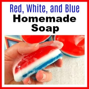 Red, White, and Blue Homemade Soap
