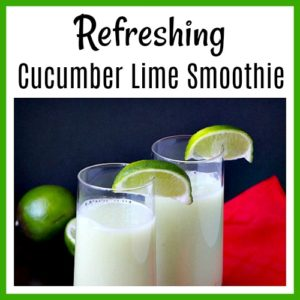 Refreshing Cucumber Lime Smoothie
