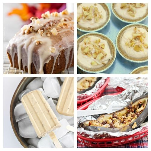 16 Delicious Banana Dessert Recipes- Don't throw out your bananas when they get old. Instead, use them in one of these delicious ways to enjoy bananas! There are so many tasty banana desserts! | #recipe #dessertRecipe #dessert #food #ACultivatedNest