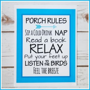 Free Porch Rules Home Decor Printable