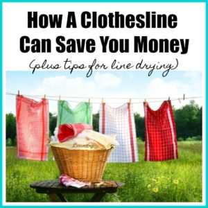 How a Clothesline Can Save You Money