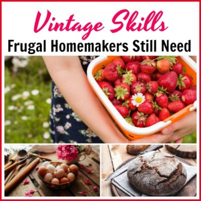 Vintage Skills Frugal Homemakers Still Need
