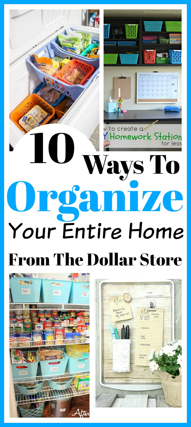 Ways To Organize Your Entire Home From The Dollar Store